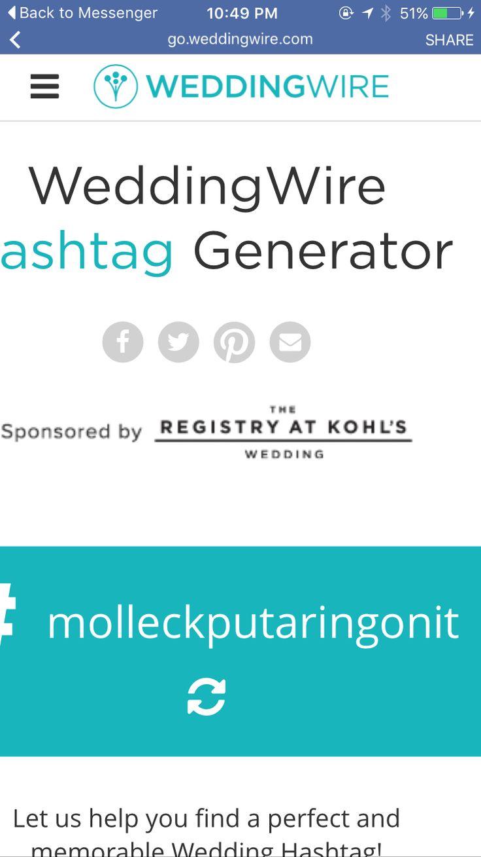 25 best ideas about wedding hashtag generator on