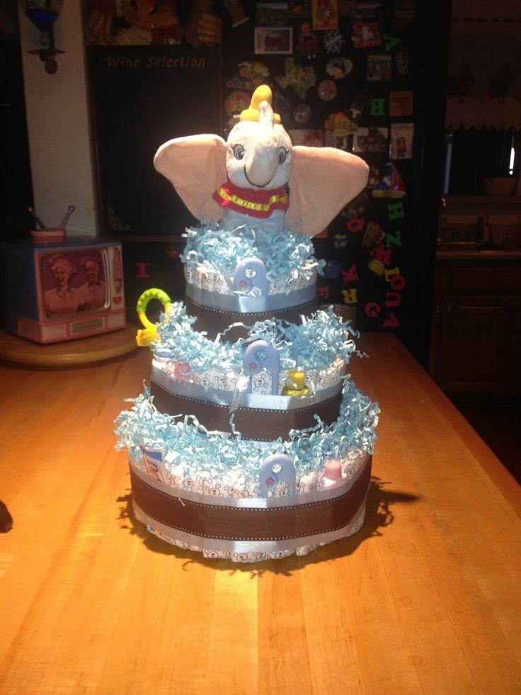 Dumbo Diaper Cake My Creations Pinterest Cakes