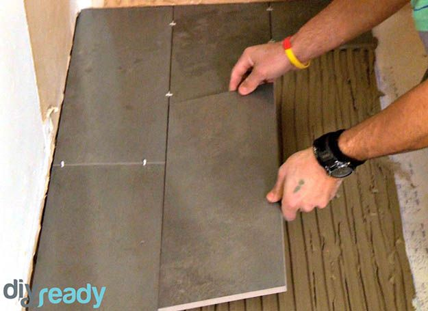 Place the Tiles   Clean Your Floor   How to Lay Tile in Bathroom   How to Lay Bathroom Tile