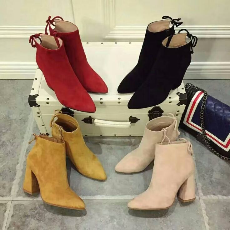120.00$  Watch now - http://alizhh.worldwells.pw/go.php?t=32790029731 - 2016 Fall/winter pointed ankle boots fashion woman's suede short boots EU35-40 size