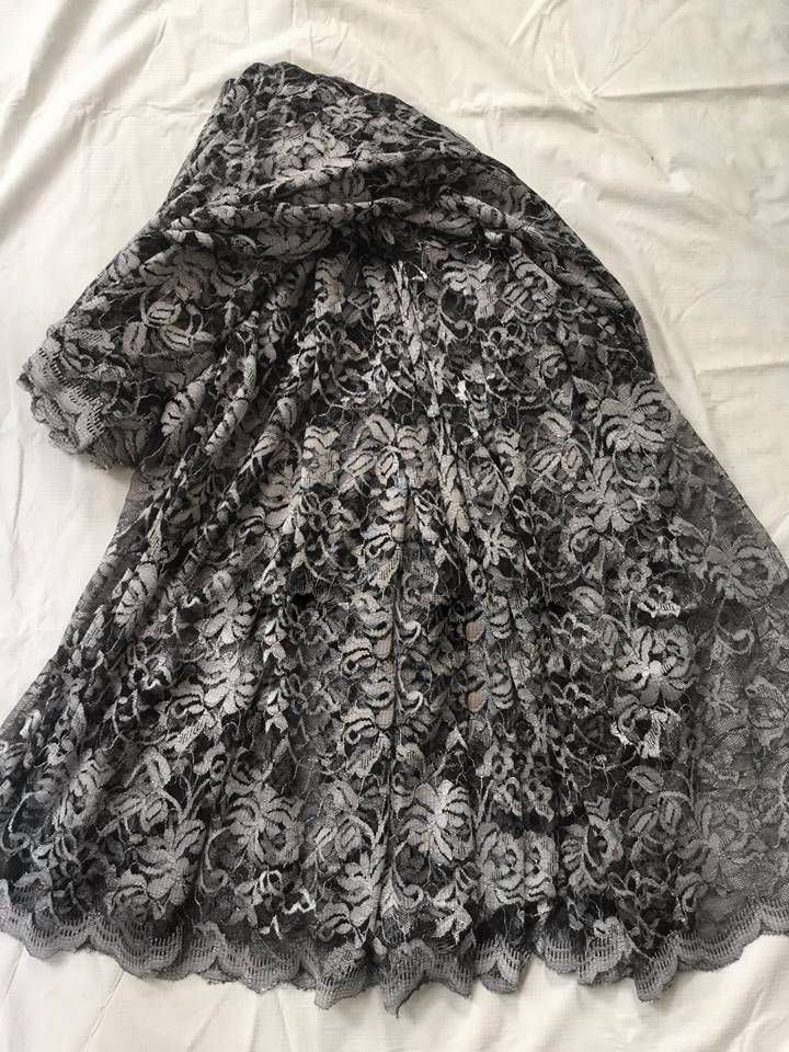 Silver Net Lace sari by ZainabBoutique on Etsy