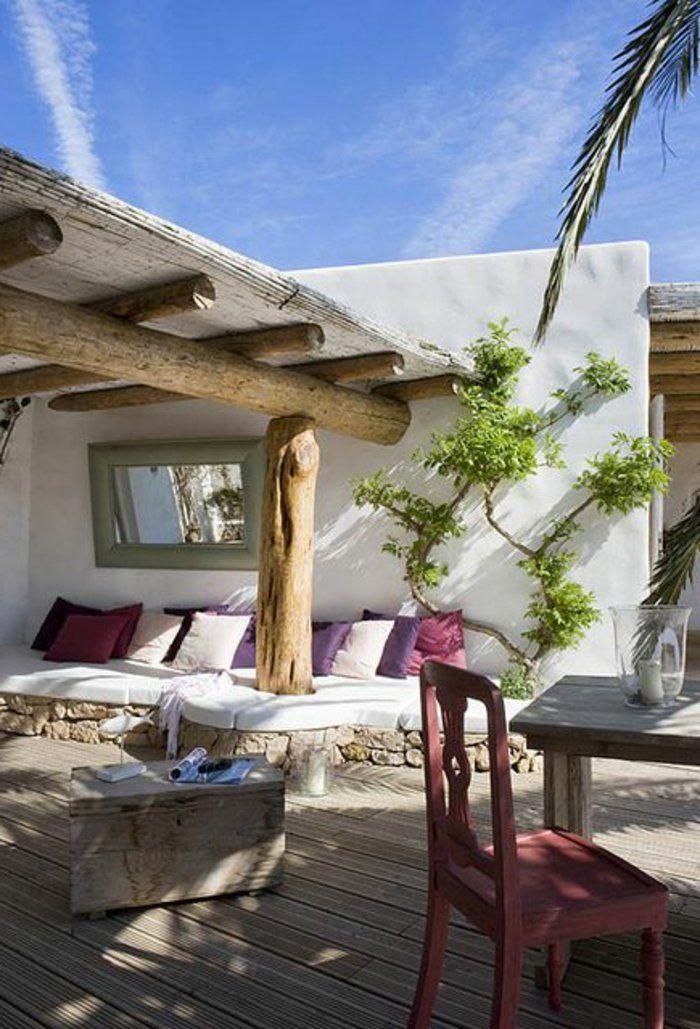 joli jardin de style rustique pour les maisons familiales de vacances