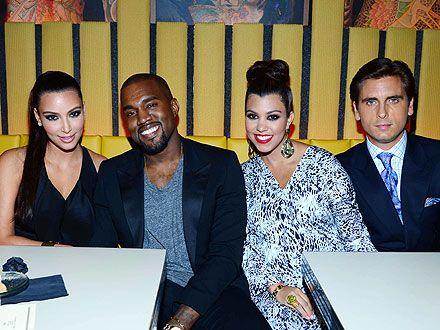 Kim Kardashian, Kanye West Hang with Scott Disick and Kourtney Kardashian