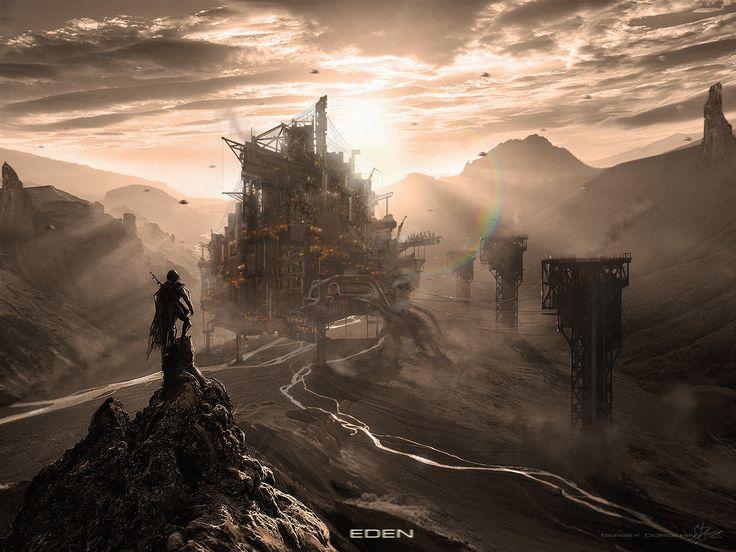 "ArtStation - sci-fi environment concept , Sergei ""Baboo"" Dorokhin"