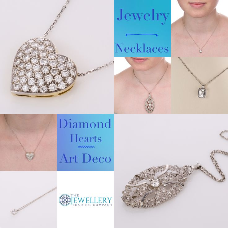 Jewelry - Necklaces from simple diamond drops to elaborate Art Deco styles. Find your fashion style at The Jewellery Trading Company