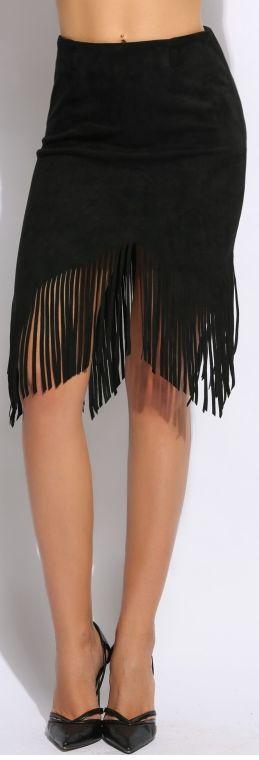 Treasured Tassel Skirt - Black
