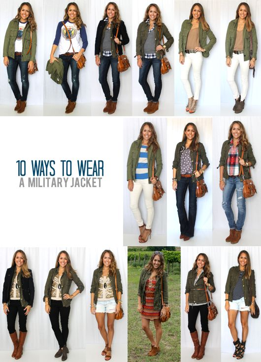 I added a military jacket to my closet last year, and I simply can't get enough. I find myself pairing it with anything and everything and I even bought a second version, in a slightly different shape and color. If you have a military jacket or are planning to buy one here are 10 ideas…