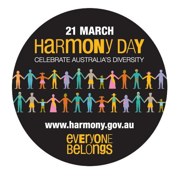 21 March Harmony Day  http://www.globalkidsoz.com.au/cultural_calendar.php