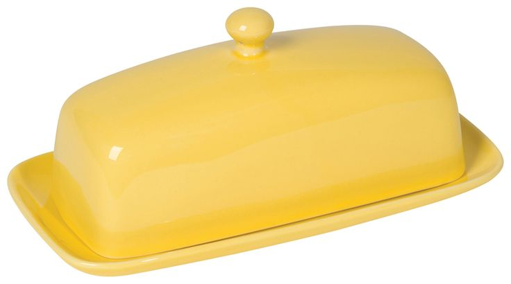 SOLD OUT! Lemon Rectangular Butter Dish | The Art of Home $14.95 | 1 Requested | 0 Purchased