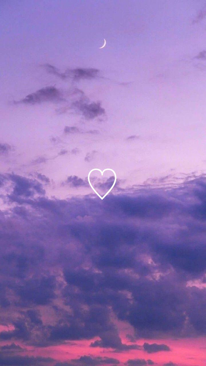 Tumblr Wallpaper Heart Sky Purple Sky Wallpaper Tumblr Wallpaper Papel De Parede Bonito Para Iphone Papel De Parede Roxo