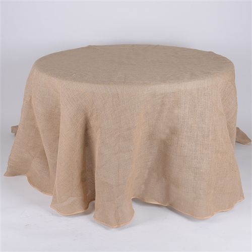 Beautiful 90 Inch Fine Rustic Jute Burlap ROUND Tablecloths