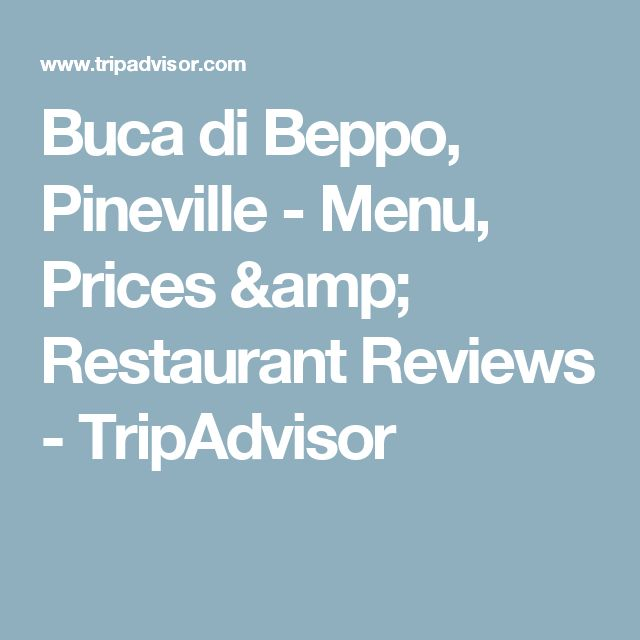 Buca di Beppo, Pineville - Menu, Prices & Restaurant Reviews - TripAdvisor