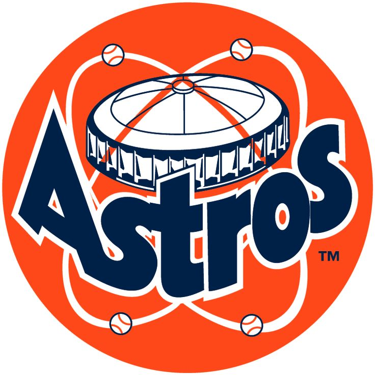Houston Astros Primary Logo (1977) Astrodome above