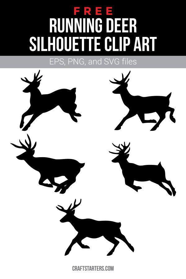 Free Running Deer Silhouette Clip Art Deer Silhouette Clip Art Silhouette Clip Art