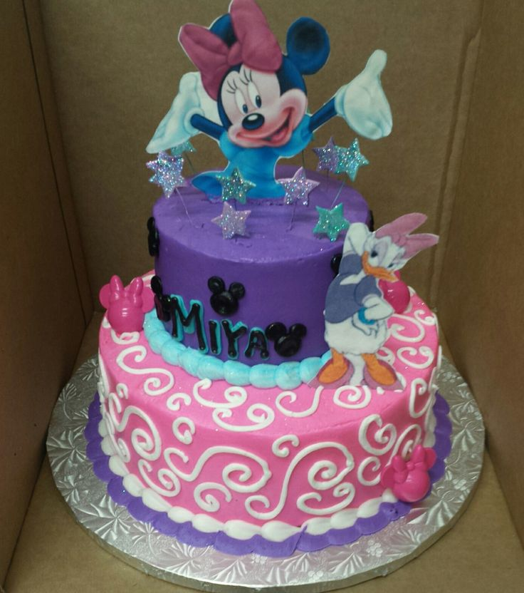 calumet bakery minnie and daisy two tier cake stuff to buy pinterest. Black Bedroom Furniture Sets. Home Design Ideas