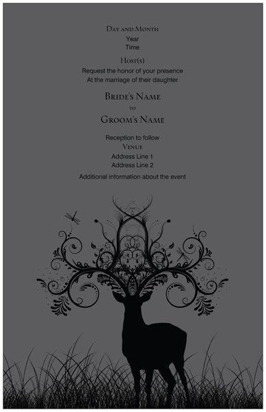 26 best images about deer theme on pinterest | deer, custom fonts, Wedding invitations