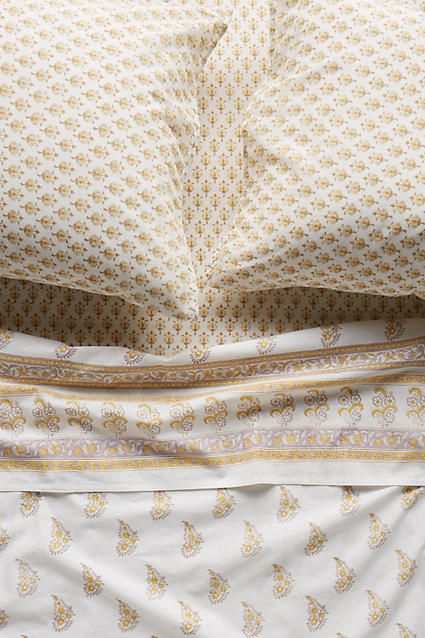Kerry Cassill Gold Paisley Sheet Set