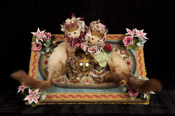 Some very ornate (literally) stuffed animals by Artist Franche-Comte Benoit Huot. | leblogdukitsch.com