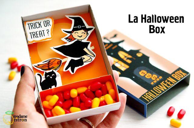 Tuto DIY Halloween Box: la boite à bonbons à imprimer | Madame Citron - Blog de créations et DIY
