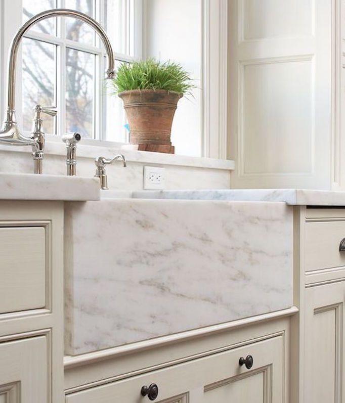 Marble Sinks Becki Owens Marble Sinks Apron Front Sink Kitchen Design