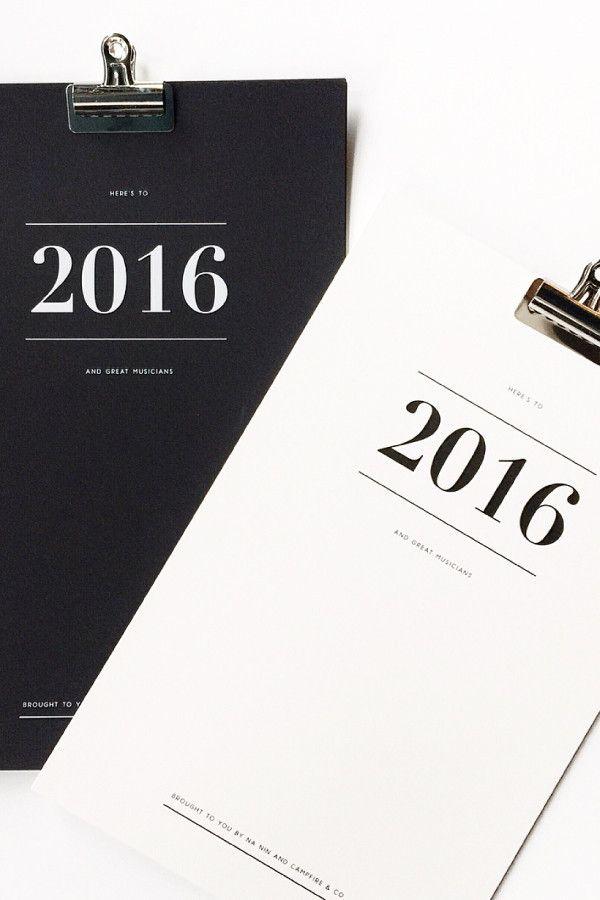 Campfire Co. X Na Nin Great Musicians 2016 Calendar – Parc