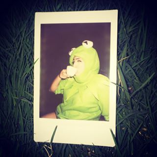 And, of course, Kermit the Frog just minding his own damn business. | 21 Halloween Costumes So Good You'll Wish You Thought Of Them