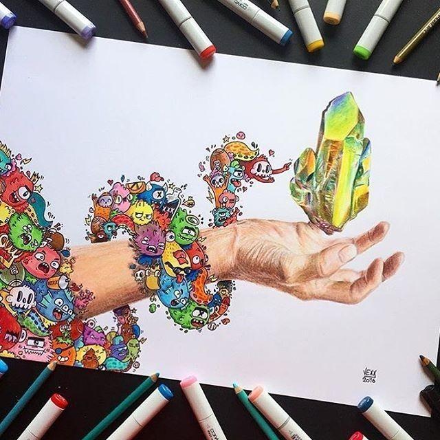 Amazing Piece By: @vexx_art  _ Follow @artistic.explorer
