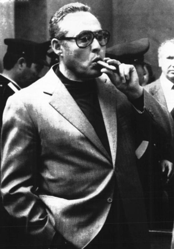 Luciano Leggio (January 6, 1925 – November 15, 1993) an Italian criminal & leading figure of the Sicilian Mafia. Head of the Corleonesi, the Mafia faction that originated in the town of Corleone. Some sources incorrectly spell his surname Liggio, a result of a misspelling in court documents in the 1960s as well as setting Corleonesi on track to become the dominant Mafia clan in Sicily, he became infamous for avoiding convic...