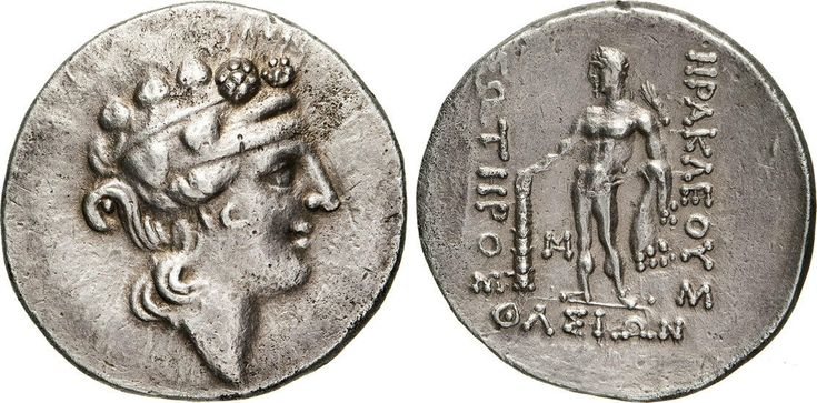NumisBids: Numismatica Varesi s.a.s. Auction 65, Lot 38 : TRACIA - THASOS - (146 a.C. circa) Tetradramma. D/ Testa di...