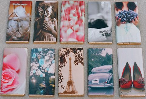 DIY candy bar wrappers out of photos