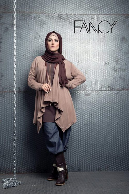 neutral cardigan hijab look, Winter poncho trends by fancy store http://www.justtrendygirls.com/winter-poncho-trends-by-fancy-store/