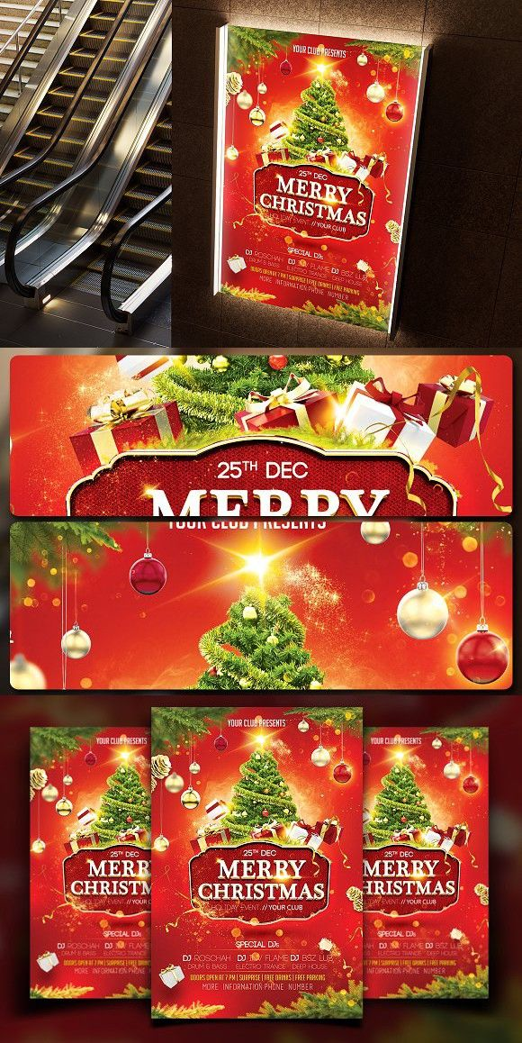 Christmas Flyer Template Christmas Flyer Flyer Template And Template