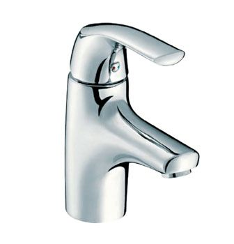 Nateo® Single Lever Basin Mixer (without Pop-Up Waste)  Features:    Polished chrome.  Solid brass construction.  Ceramic discs.  Suitable for mains pressure.