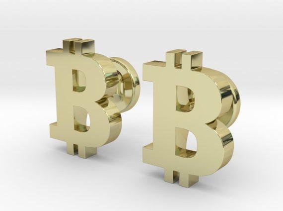 Custom Bitcoin Cufflinks   Personalized Gifts For Him   Keepsake Engraved Cufflinks   Cryptocurrency Wedding Cufflinks   Geek Jewelry