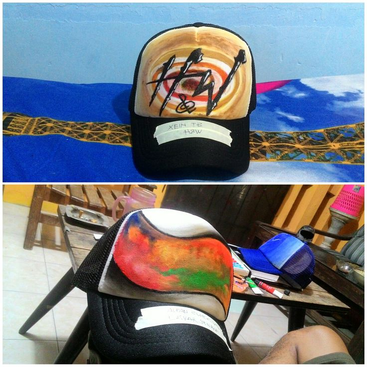 hat painting artwork