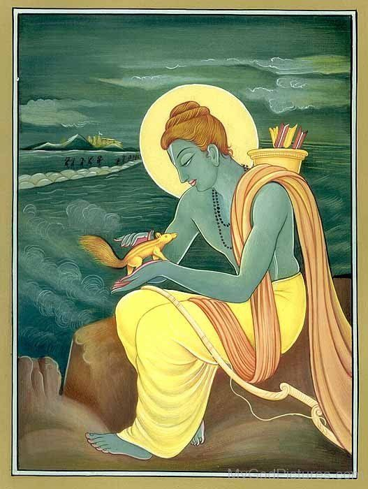 Lord Rama Holding Squirrel