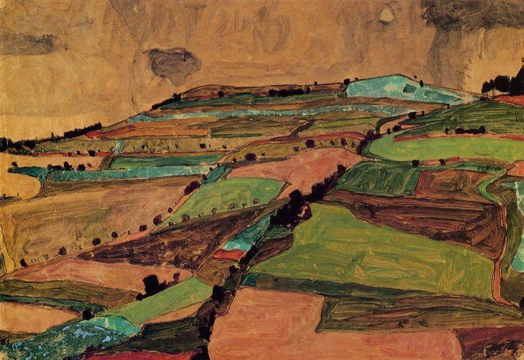 Egon Schiele, Near Kreuzberg, 1910