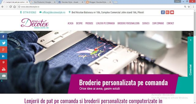 DecotexStyle - lenjerii la comanda Pitesti: Acum ne gasiti pe www.decotexstyle.ro