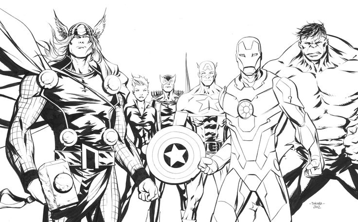 Coloring Pages Of Marvel Avengers : Free avengers coloring pages kids