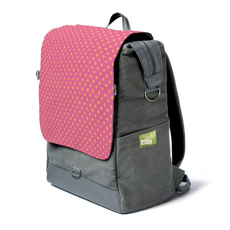 When life gives you sherbet... you know the rest. You are looking at the most unique backpack on the whole entire planet. Really. It's roomy. It holds all your stuff with our widemouth zip top. It protects your laptop or tablet with a padded sleeve, and best of all, The Crossbody Convertible Flap zips off to become a purse, (with the included cross body strap) for when you need just a few of your favorite things things and not all your stuff.