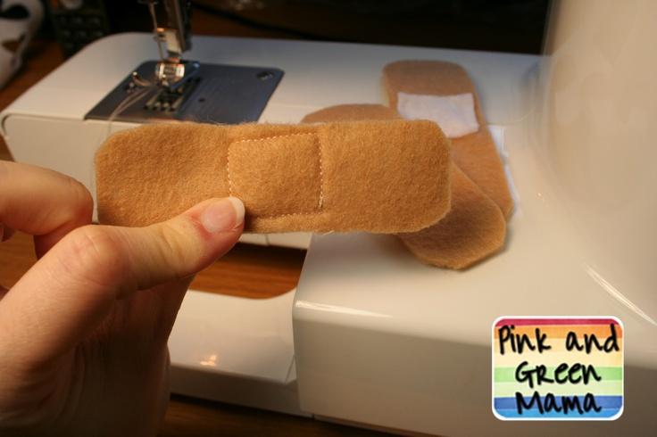 Feel Better Felt Band-Aids :: for stuffed animals-- what a cute idea! :D @Alison MacIvor and @Dawna MacIvor