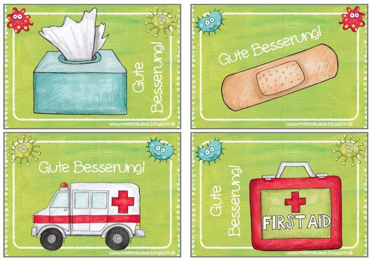 Krankenmappe für kranke Kinder | materialwiese