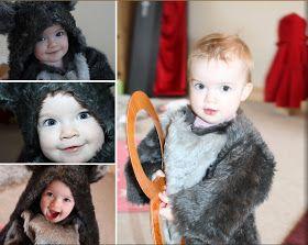 Homemade Toddler Wolf Costume