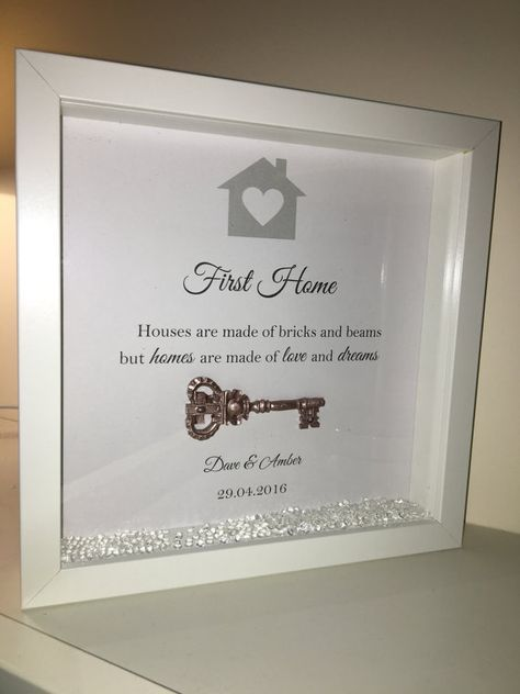 Handmade Personalised Box Frame, New Home or First Home Present with ...