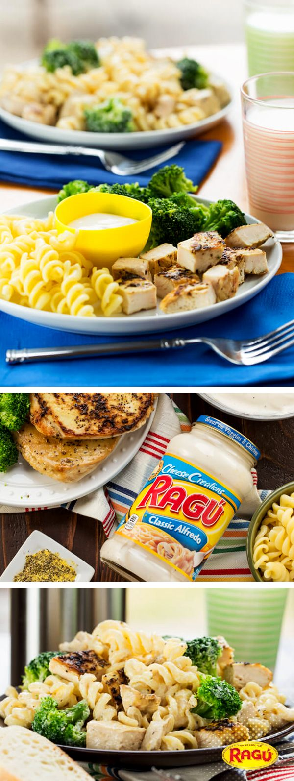 A zesty twist to a classic! Garnish With Lemon gives a citrus kick to her Lemon Chicken and Broccoli Alfredo recipe. They use Ragú Classic Alfredo with savory spiral noodles. Cook and serve in under 30 mins! #saucesome