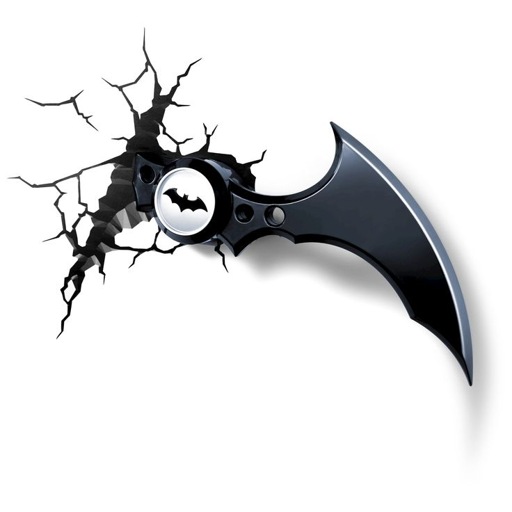 Warner Bros 3D Wall Nightlight Batman Batarang,