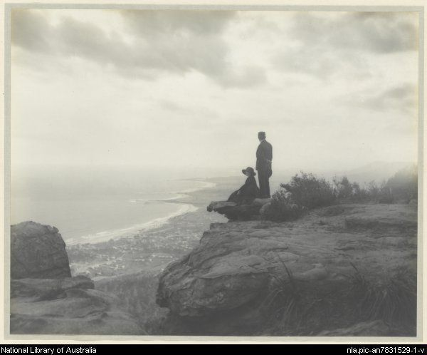 Cazneaux, Harold, 1878-1953. South Coast, NSW from top of Bulli Pass, 1921