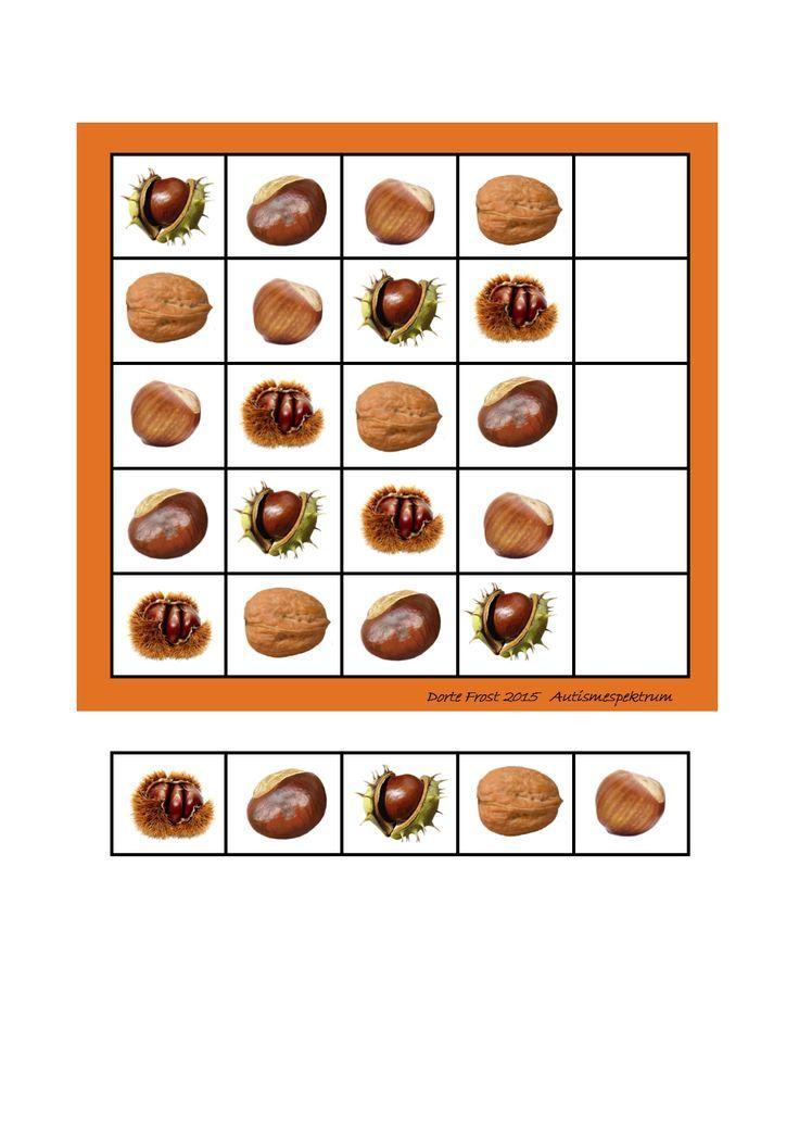 herfst sudoku voor kleuters 2: