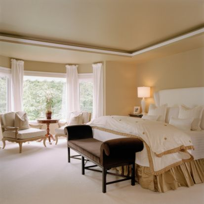 1000 images about master bedroom bay windows on pinterest for Window treatments for bay windows in bedrooms