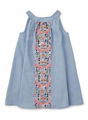 Girls Dresses & Tunics | Folk Sequin Chambray Dress | Seed Heritage